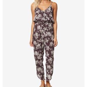 Purple Print Jumpsuit sz Medium